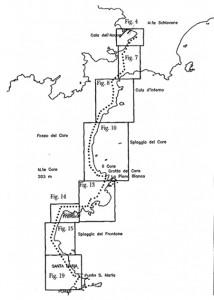 Fig. 3. Tracciato schematico dell'acquedotto