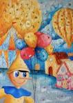Annamaria Annunziata - Pinocchio nel paese dei balocchi -olio su tela