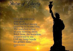 Iscrizione alla base della Statua della Libertà