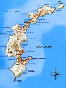 cartina isola di ponza