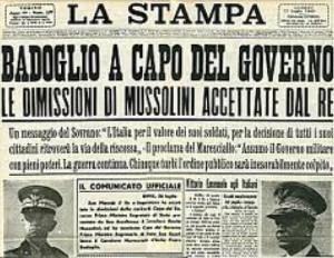 1. Sui giornali la notizia delle dimissioni di Mussolini