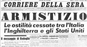 4. La notizia dell'armistizio riportata dal Correiele della Sera in prima pagina