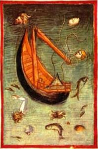 Anonimo fiorentino. 1390. Naufragio di Ulisse