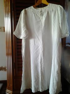 Camicia da notte in lino