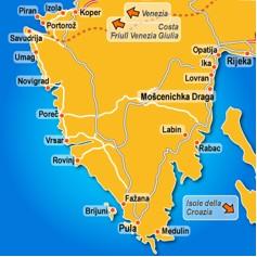 La penisola d'Istria ex italiana e Opatija (Abbazia)
