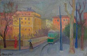 Mario-Mafai-Tram-1947-olio-