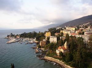 Panorama di Abbazia (Opatija) oggi