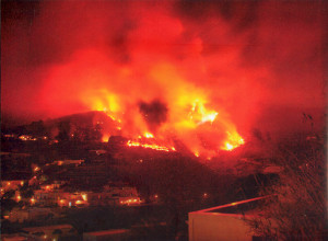 Ponza. Incendio del 26 Agosto 2007