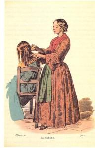 'a capera, l'odierna parrucchiera