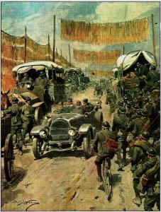 immagine della I guerra mondiale attraverso le copetine della Domenica del Corriere
