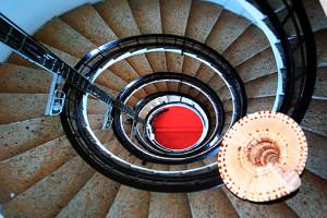 la conchiglia e le scale