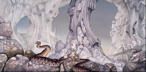 Roger Dean. La copertina di Relayer. Yes.1974