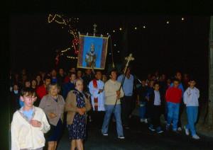 La processione per l'arrivo del Santo