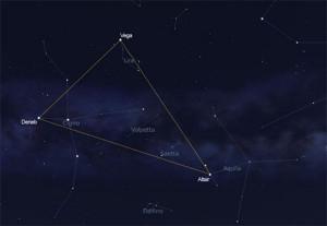 Il Triangolo estivo. Vega altair e Deneb