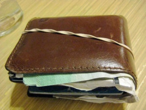 Il portafoglio gonfio