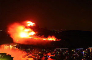 Ischia. 'Incendio' del Castello