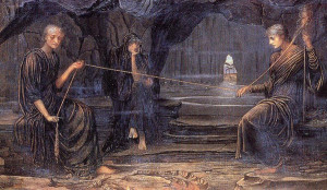 John Strudwick, A Golden Thread, 1885 (olio su tela)