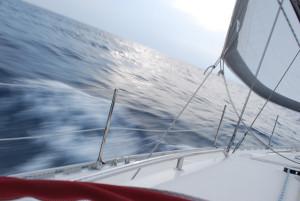 Navigazione verso l'isola
