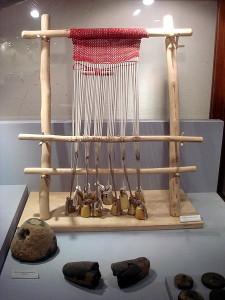 Ricostruzione di un telaio preistorico