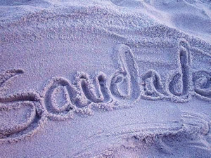 Saudade. On the sand