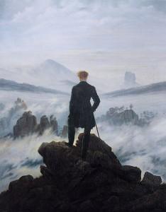 Caspar David Friedrich. The wanderer above the sea of fog. 1818