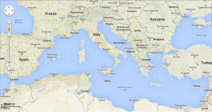 Google Map. Mediterraneo Mar nero e Mar di Marmara