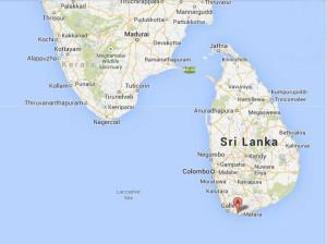 Google map. Sri Lanka e punta dell'India