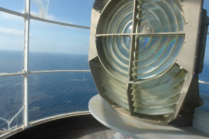 Le lenti di Fresnel della lampada copia