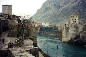 Mostar senza il ponte. Distrutto nel '93