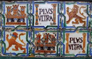 Motivo su piastrelle ceramiche all'Alcàzar di Siviglia