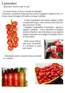 Pannello 13. I pomodori