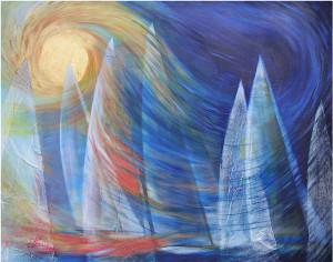 Passion. Dipinto di Lorella Fabro