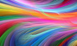 Rappresentazione frattale dell'arcobaleno