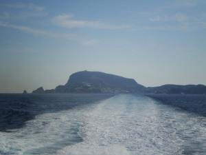 Scia del traghetto da Ponza.OK