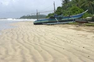 Spiaggia con imbarcaz. tipica