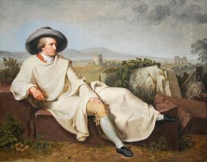 Tischbein J .H.W. Goethe nella campagna romana.1787