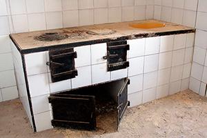 il focolare della cucina del faro della guardia
