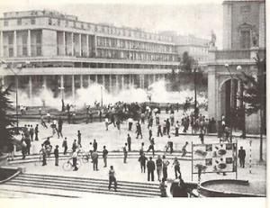 7 luglio 1960 Reggio Emilia. Piazza della liberta
