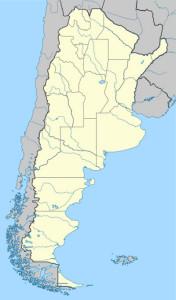 Argentina e Chile. Estremo del continente sud-americano. Mappa copia