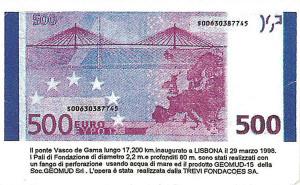 Banconota da 500 €. Foto Agosto 2008