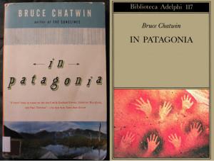 Due copertine del libro di Chatwn In Patagonia