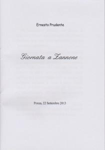Ernesto a Zannone. Scritto