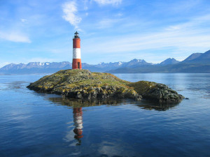 Faro Ushuaia Bay Lighthouse.Day