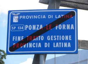 Fine strada Provinciale