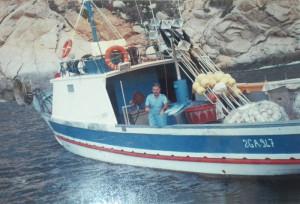La 'Filippo'. la barca da pesca di Filippo Vitiello