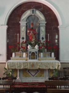 La cappelletta dedicata a San Silverio nella Chiesa parrocchiale di Olbia
