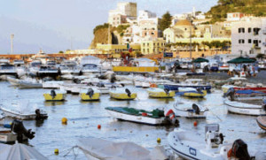 La foto del porto di Ponza su Latina Oggi