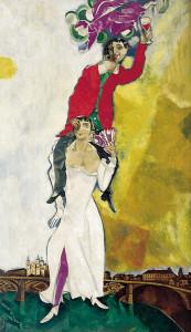 Marc Chagall. Vestito rosso