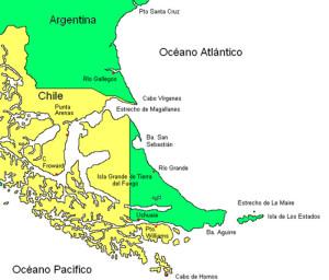 Ushuaia. Tierra Del Fuego. Map