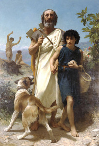 Omero e la sua guida. William Adolphe Bouguereau. (1874)
